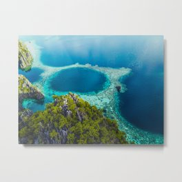 Island of the turquoise and blue Metal Print