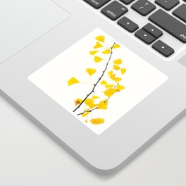 gingko biloba branch Sticker