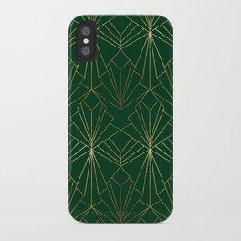 Art Deco in Gold & Green iPhone Case