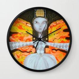 Mademoiselle butterfly Wall Clock