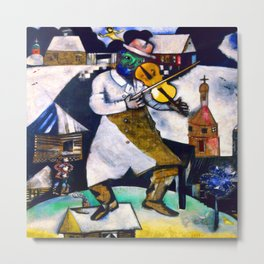 Marc Chagall The Fiddler Metal Print