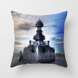 Battleship USS Texas  Throw Pillow