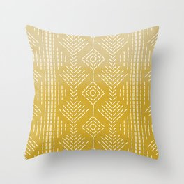 Yellow Ombre needlepoint Throw Pillow
