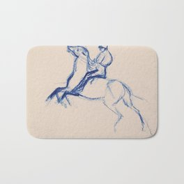 Jockey By Edgar Degas | Reproduction | Famous French Painter Bath Mat