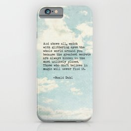 Roald Dahl Glittering Eyes iPhone Case