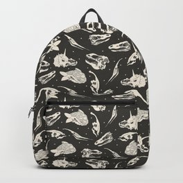 Dino Skulls Pattern (on charcoal) Backpack