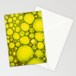 Yellow Oil Blobs on Water Stationery Cards