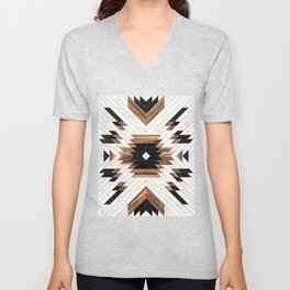 Urban Tribal Pattern No.5 - Aztec - Concrete and Wood Unisex V-Neck