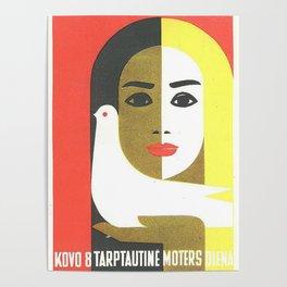 Vintage Russian Poster, USSR Soviet Union International Women's Day by Juozas Galkus 1968 Poster