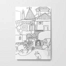 Garden Of Malaga Metal Print