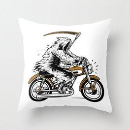 Reaper Racer Throw Pillow