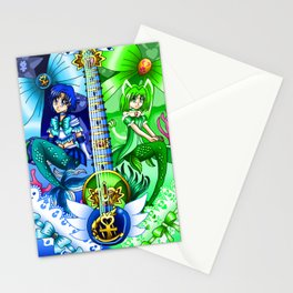 Sailor Mew Guitar #17 - Sailor Mercury & Mew Retasu Stationery Cards