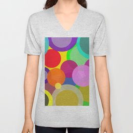 Colorful Circles Unisex V-Neck