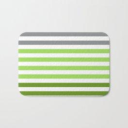 Stripes Gradient - Green Bath Mat