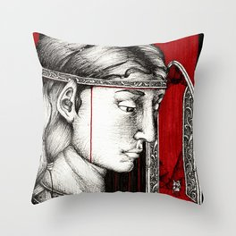 Parting in Nargothrond Throw Pillow