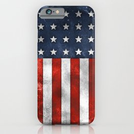 American Flag Stars and Stripes Distressed Grunge 4th. July iPhone Case