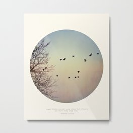 Caged Birds Metal Print