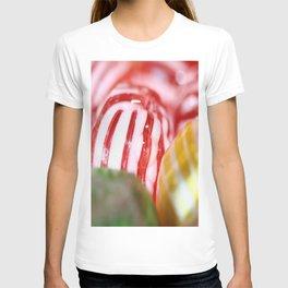 Macro of Stiped Hard Candy T-shirt
