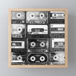 Something Nostalgic - black and white #decor #society6 #buyart Framed Mini Art Print