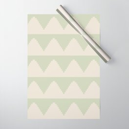 Geometric Pyramid Pattern - Soft Green Wrapping Paper