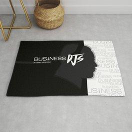 Business DJs Logo Face Silhouette Rug