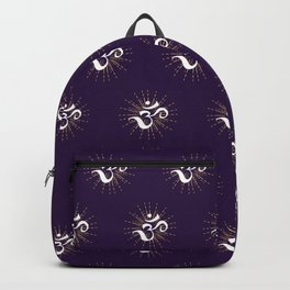 Om Mantra Universal Energy Purple Backpack