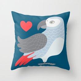 PARROT LOVE Throw Pillow