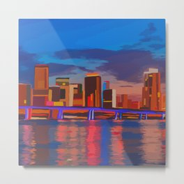 Miami Evening Metal Print