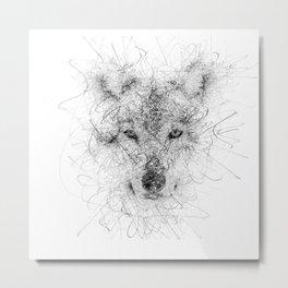 WolF Line Metal Print