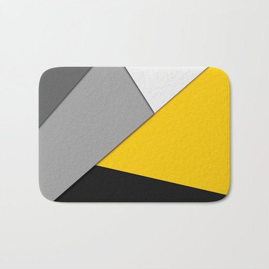 Simple Modern Gray Yellow and Black Geometric by blackstrawberry