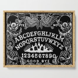 Ouija Board Black Serving Tray