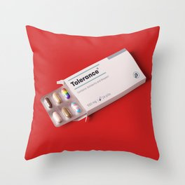 Tolerance pills Throw Pillow