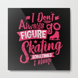 Figure Skating Metal Print