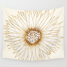 Gold Sunflower Wall Tapestry