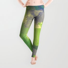 Abstract painting X 0.4 Leggings