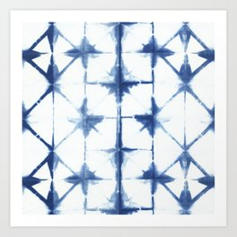Shibori Diamonds Art Print