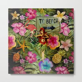 Tropical Vintage Exotic Jungle Beach Party Metal Print