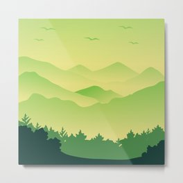 Natural Green Jungle Metal Print