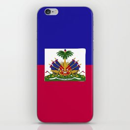 Haiti flag emblem iPhone Skin