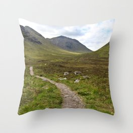 Path of Scots Throw Pillow