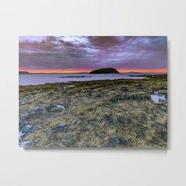 Maine Coast Sunrise Landscape Print Bar Harbor Metal Print