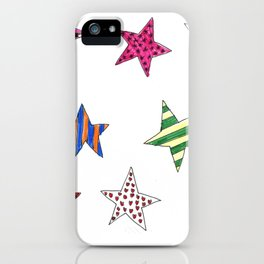 Shiny Christmas Stars - Xmas Decoration iPhone Case