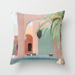 Moroccan Pool Throw Pillow