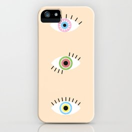 Three Magic Eyes iPhone Case