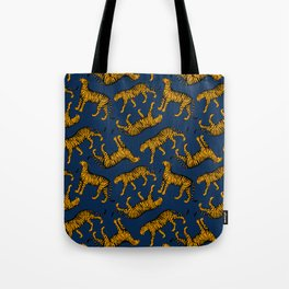 Tigers (Navy Blue and Marigold) Tote Bag