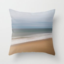 The last of winter | East Beach Throw Pillow