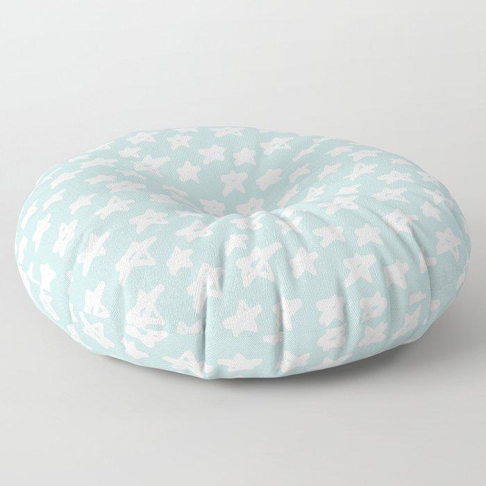 Stars on mint background Floor Pillow