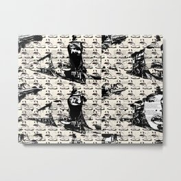 Mouths in Eternal Electron Vibration Metal Print