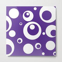Circles Dots Bubbles :: Grape Juice Metal Print