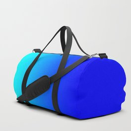 Aqua Blue Bright Ombre Duffle Bag